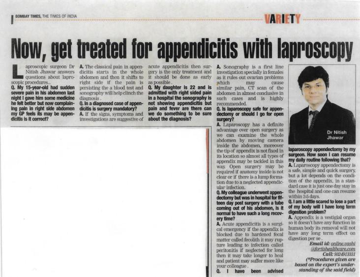 TOI Appendicitis
